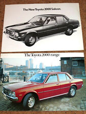 2 x TOYOTA 2000 Brochures c1975-1977 - Saloon & Estate