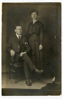 Real Photo Postcard - RINEHART Family - Man & Lady - Aunt Susie / Uncle Andy