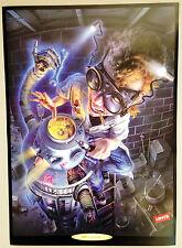*Original* 1990 LEVI'S WILD CREATURES Robot TECHNOSAURUS REX Poster ADVERTISING