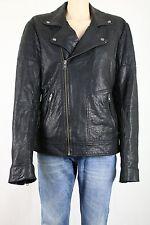 ASOS Men's Black Faux Croc Print Leather Biker Jacket Coat UK SIZE MEDIUM £120