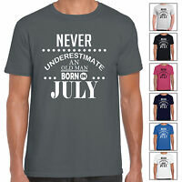 Never Underestimate An Old Man Born In July - Mens T Shirt Birthday Gift Fun