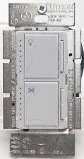 Lutron Maestro MA-LFQ35-WH Fan Control & Indoor Touch Dimmer Light Switch WHITE