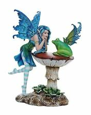 Enchanting Frog Gossip Fairy Collectible Decorative Statue by Amy Brown