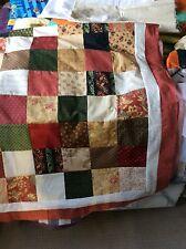 Medium handmade country style patchwork throw