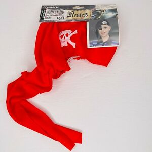 Child Halloween Pirate Pirates Hat Red Skull Cap NEW One Size Ages 8+