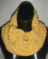 Hand Crochet Loop Infinity Circle Scarf/Neckwarmer #131 Yellow New