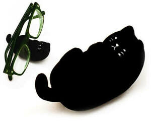 Decole Concombre Black Cute Kitty Cat Shape Eyeglasses Stand Holder S-4049