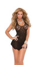 1b506c901301 Elegant Moments 1422 Lace Halter Mini Dress Club Plus Size 1x - 3x Queen  Black