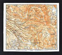 1904 Wagner Debes Map - Palestrina Castelo San Pietro Pisoniano Zagarolo - Italy