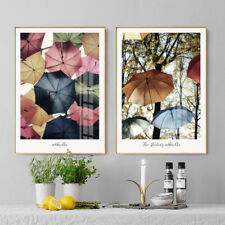 2 Piece Wall Prints - The Floating Umbrella Home Decor Digital Art Unframed