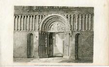 West Doorway Of Rochester Cathedral Engraving By R. Roffe A Drawing F. Mack