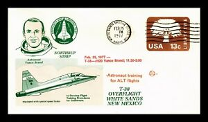 US SPACE COVER T-38 OVERFLIGHT WHITE SANDS NEW MEXICO ASTRONAUT VANCE BRAND