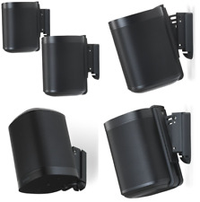 Flexson Wall Mount for Sonos One and Sonos PLAY:1 - Black (Pair)