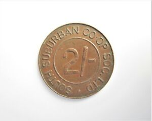 SOUTH BUBURBAN 2/- CO-OP SOCIETY LTD TOKEN / SNIFF'S  ANCIENT COINS T-3