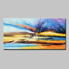Mintura Hand Oil Paintings on Canva Abstract View of The Sky Home Decor Wall Art