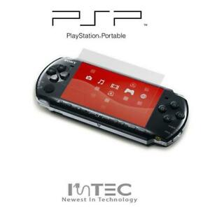 High Quality Clear Plastic Screen Protector & Wipe for Sony PSP 1000 2000 3000
