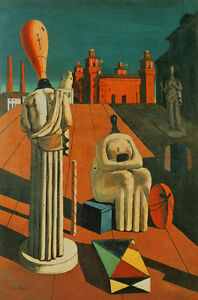 The Disquieting Muses  by Giorgio de Chirico  Giclee Canvas Print Repro