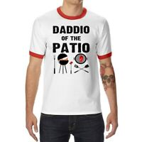 Daddio Of The Patio Funny Mens T-Shirt Ringer Short Sleeve Casual Tops Tee Gifts