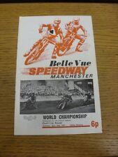 24/04/1971 SPEEDWAY programma: World Championship qualificazioni ROUND [a Belle Vue