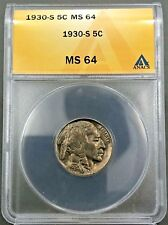 1930-S 5c Buffalo Nickel ANACS MS64