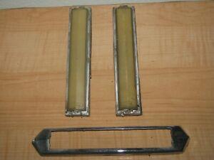 1977-1979 Lincoln Continental Town Car Side Opera B Pillar Light Pair & Bezel