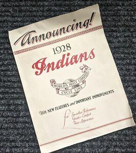 1928 INDIAN MOTORCYCLE - ORIGINAL SALES BROCHURE