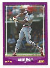 1988 Score High Gloss Baseball - #40 - Willie McGee - St. Louis Cardinals