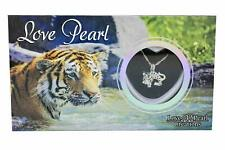 "Love Wish Pearl Necklace Kit Set Culture Pearl 16"" Necklace Jungle - Tiger"