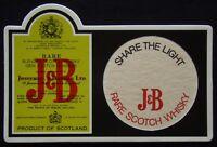 J&B Rare Scotch Whisky Share The Light Coaster (B17)