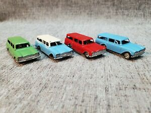 Tootsietoy HO SCALE RAMBLERS Lot of 4 1960s Modified 2 Inch with Hitch