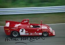 Arturo Merzario Firmato a Mano 12x8 PHOTO ALFA ROMEO LE MANS 1.