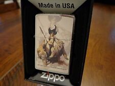 FRANK FRAZETTA THE HUNTRESS PINUP GIRL FANTASY ART ZIPPO LIGHTER MINT IN BOX