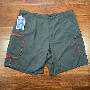 Aftco Bluewater Manfish Swim Trunks Charcoal Gray Classic Fit Mens Size: 44 NEW