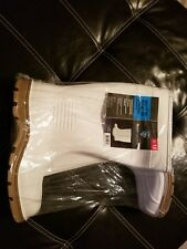 Rubber boots West Chester Protective Gear 15in PVC Slip-Resistant Boots- White
