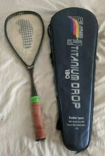 Feather Titanium Drop 160 Squash Racquet racket with cover
