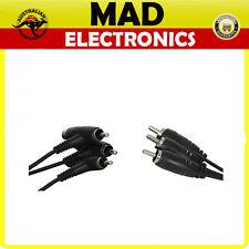 3 x RCA Piggyback Plugs to 3 RCA Plugs - 1.5 Meter