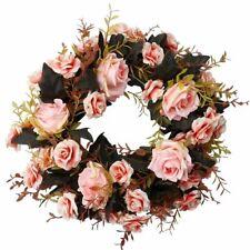 Artificial Rose Wreath for Front Door Wedding Wreath with Rose Vine Plants