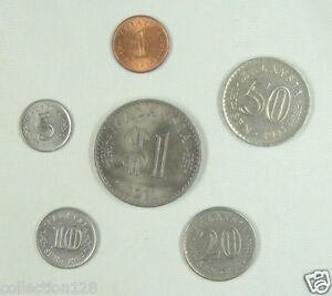 Malaysia coins set of 6 pieces 1971-1983