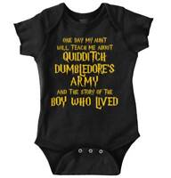 Nerd Aunt Will Teach Me About Wizards Shower Newborn Romper Bodysuit For Babies