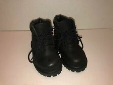 EUC! Timberland Premium Toddler Boys Black Leather Lace Up Boots Size 4 12807