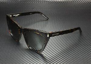 SAINT LAURENT YSL 214 Kate 006 Cat Eye Havana Grey 55 mm Women's Sunglasses