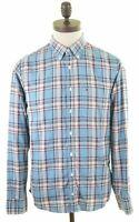TOMMY HILFIGER Mens Shirt Small Multi Check Cotton  AR07