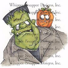 Halloween Frank Selfie, Unmounted Rubber Stamp Whipper Snapper Designs New MY647