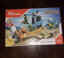 Mega Construx Pokemon Squirtle vs. Charmander 140 pcs DYF10 Building Set New