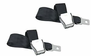 Universal Airplane Seat Belt Extender 2-Pack Type A - Free Case and Owner's Card