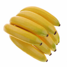 Fake Banana Bunch Artificial Plastic Fruits Decor Kitchen Cabinet Photo Props