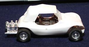Vintage Mini Lindy Lindberg Line #31 Plastic White Dune Buggy w/ removeable Top