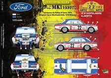 [FFSMC Productions] Decals 1/32 Ford Escort MK1 1600TC Rallye d'Ypres 1970