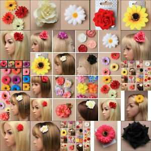 HAIR FLOWER DAISY SUNFLOWER HAIR CLIP SLIDE BRIDESMAID FESTIVAL FASCINATOR 10