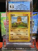 Pokemon CGC 9.5 GEM MINT Diglett Base Set Fighting Symbol ERROR #47 PSA BGS